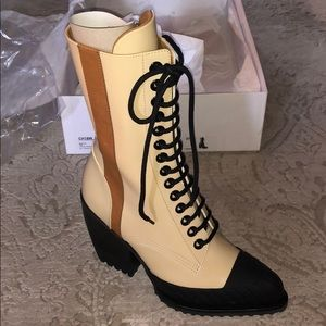Chloe Rylee Lace-up Boots Cloudy Yellow